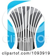 Clipart Blue White And Gray Urban Skyscraper Logo 12 Royalty Free Vector Illustration by elena