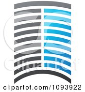 Clipart Blue White And Gray Urban Skyscraper Logo 6 Royalty Free Vector Illustration by elena