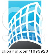 Clipart Blue White And Gray Urban Skyscraper Logo 7 Royalty Free Vector Illustration by elena