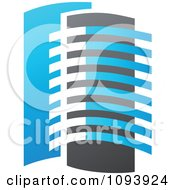 Clipart Blue White And Gray Urban Skyscraper Logo 8 Royalty Free Vector Illustration by elena