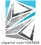 Clipart Blue White And Gray Urban Skyscraper Logo 10 Royalty Free Vector Illustration by elena