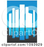 Clipart Blue White And Gray Urban Skyscraper Logo 3 Royalty Free Vector Illustration by elena