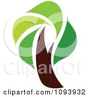 Clipart Green Tree Logo 15 Royalty Free Vector Illustration by elena