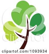 Clipart Green Tree Logo 1 Royalty Free Vector Illustration by elena