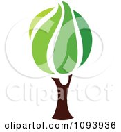 Clipart Green Tree Logo 11 Royalty Free Vector Illustration by elena