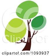 Clipart Green Tree Logo 6 Royalty Free Vector Illustration