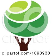 Clipart Green Tree Logo 8 Royalty Free Vector Illustration by elena