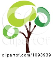 Clipart Green Tree Logo 9 Royalty Free Vector Illustration by elena