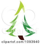 Clipart Green Tree Logo 7 Royalty Free Vector Illustration by elena