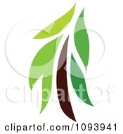 Clipart Green Tree Logo 13 Royalty Free Vector Illustration by elena