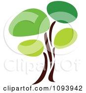 Clipart Green Tree Logo 14 Royalty Free Vector Illustration