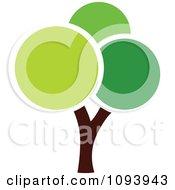 Clipart Green Tree Logo 12 Royalty Free Vector Illustration