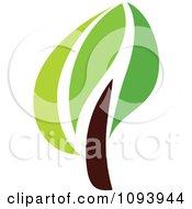 Clipart Green Tree Logo 2 Royalty Free Vector Illustration