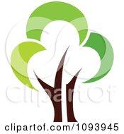Clipart Green Tree Logo 5 Royalty Free Vector Illustration by elena #COLLC1093945-0147