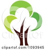 Clipart Green Tree Logo 5 Royalty Free Vector Illustration