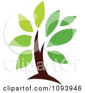 Clipart Green Tree Logo 3 Royalty Free Vector Illustration