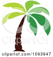 Clipart Green Palm Tree Logo Royalty Free Vector Illustration by elena #COLLC1093947-0147