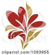Clipart Red And Green Flower Logo 3 Royalty Free Vector Illustration