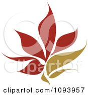 Clipart Red And Green Flower Logo 5 Royalty Free Vector Illustration