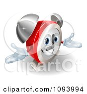 Clipart Friendly Alarm Clock Character Royalty Free Vector Illustration
