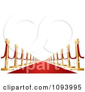 Clipart 3d VIP Red Carpet Royalty Free Vector Illustration