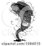 Clipart Grayscale Twister Tornado Character 2 Royalty Free Vector Illustration by Vector Tradition SM