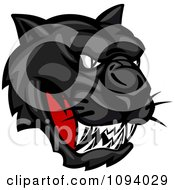 Clipart Fierce Black Panther Face Royalty Free Vector Illustration by Vector Tradition SM