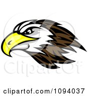 Clipart Profiled Bald Eagle Head Royalty Free Vector Illustration