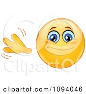 Clipart Emoticon Smiley Face Gesturing So So Royalty Free Vector Illustration