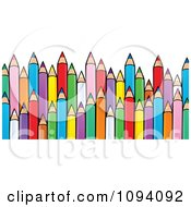 Clipart Sharp Colored Pencils Royalty Free Vector Illustration by visekart