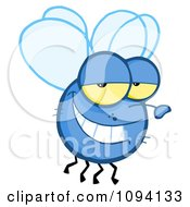 Clipart Grinning Fly Royalty Free Vector Illustration by Hit Toon