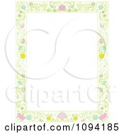 Clipart Beautiful Ornate Floral Frame With White Copyspace Royalty Free Vector Illustration