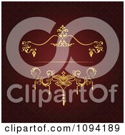 Clipart Ornate Red And Gold Victorian Invitation Background With Copyspace 3 Royalty Free Vector Illustration by leonid