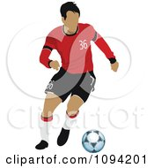 Clipart Faceless Soccer Player Athlete 9 Royalty Free Vector Illustration