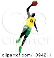 Clipart Faceless Basketball Player Athlete 7 Royalty Free Vector Illustration by leonid
