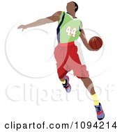 Clipart Faceless Basketball Player Athlete 4 Royalty Free Vector Illustration by leonid