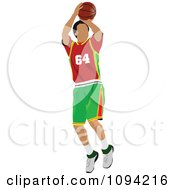 Clipart Faceless Basketball Player Athlete 6 Royalty Free Vector Illustration by leonid