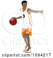 Clipart Faceless Basketball Player Athlete 1 Royalty Free Vector Illustration by leonid