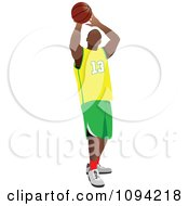 Clipart Faceless Basketball Player Athlete 2 Royalty Free Vector Illustration by leonid