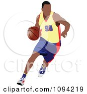 Clipart Faceless Basketball Player Athlete 3 Royalty Free Vector Illustration by leonid