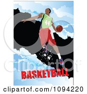 Clipart Basketball Athlete Over Grunge With Text 1 Royalty Free Vector Illustration by leonid