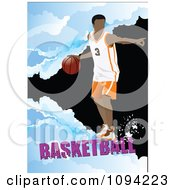 Clipart Basketball Athlete Over Grunge With Text 4 Royalty Free Vector Illustration by leonid