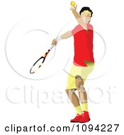 Clipart Faceless Male Tennis Player 1 Royalty Free Vector Illustration by leonid