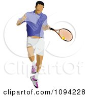 Clipart Faceless Male Tennis Player 2 Royalty Free Vector Illustration by leonid