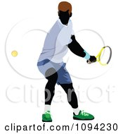 Clipart Faceless Male Tennis Player 4 Royalty Free Vector Illustration