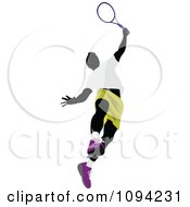 Clipart Faceless Male Tennis Player 5 Royalty Free Vector Illustration