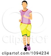 Clipart Female Jogger 3 Royalty Free Vector Illustration
