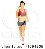 Clipart Female Jogger 4 Royalty Free Vector Illustration