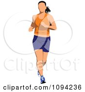 Clipart Female Jogger 5 Royalty Free Vector Illustration