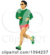 Clipart Female Jogger 1 Royalty Free Vector Illustration by leonid